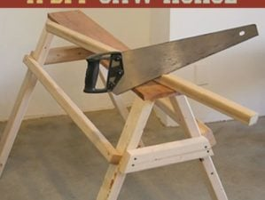 How To Build A DIY Saw Horse