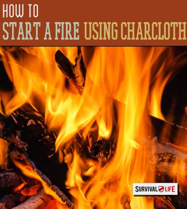 how to start a fire, how to build a fire, fire starting, char cloth
