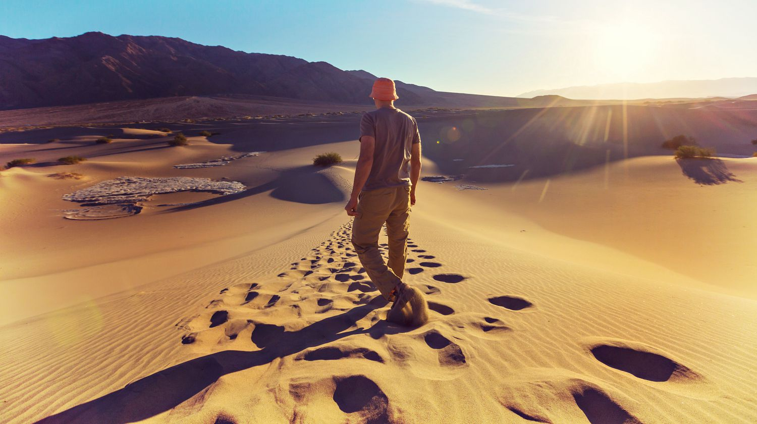 Featured | Hiker in sand desert | Survive The Desert: A Goofy How To Video