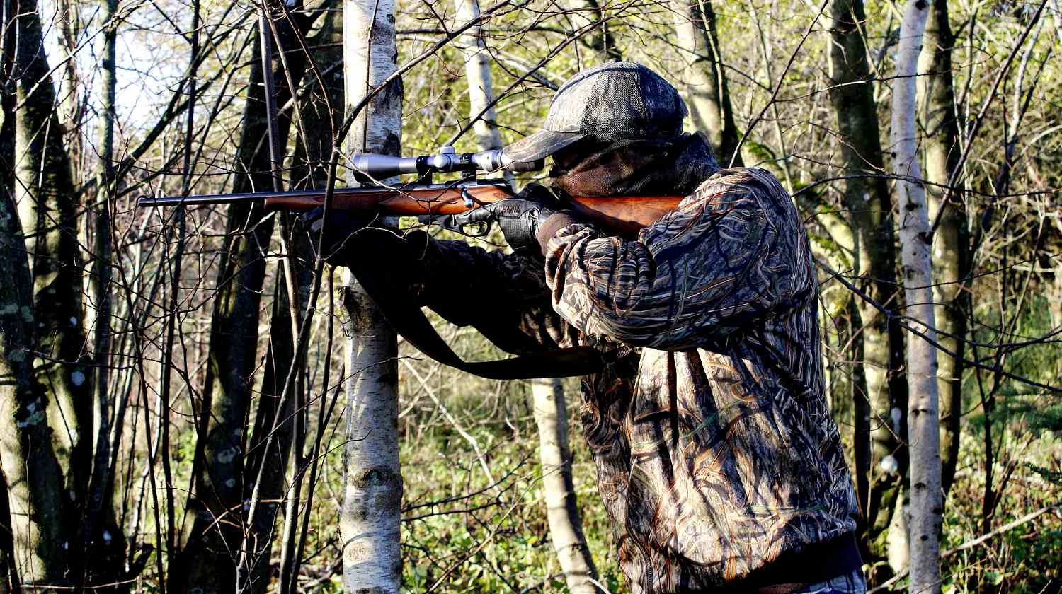 Feature | Hunter with his rifle in the forest | AR-7 | Best Survival Gun?