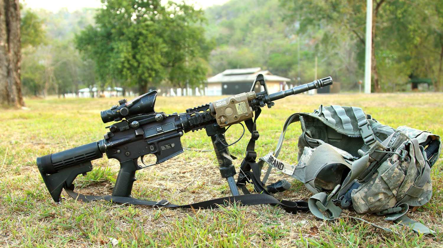 Feature | Armalite and chest holster in the ground | Best AR15 Hacks To Unlock Your Gun's True Potential