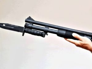Shotgun with Bayonet For Zombie Attack