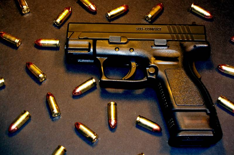 Ammunition and Gun locked and loaded for use best full size 9mm