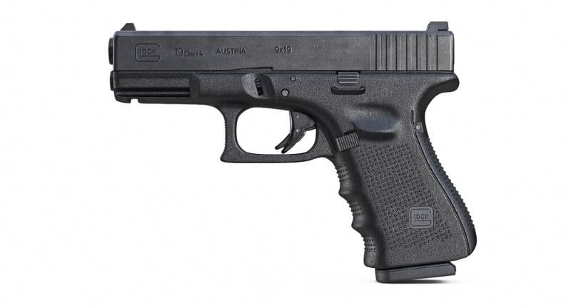 Gun Glock 19 Gen 4 3d model on white background best full size 9mm