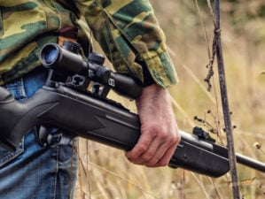 Male Shooter Engaged In Sports Hunting with an Air Rifle | Do Air Guns Have Value to a Prepper?