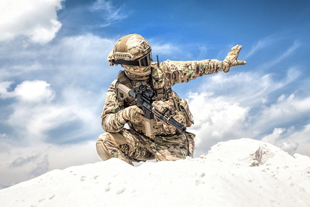 Arm Up, Flat Palm Facing Group | Tactical Hand Signals You Should Know