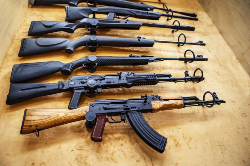 pneumatic-guns-on-shop-window-trade investing in guns