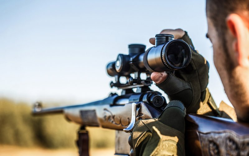 Shooter sighting in the target | turkey hunting secrets