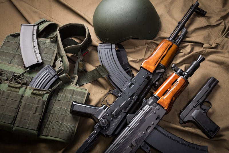 Kit of moder Russia military equipment | best home defense rifles