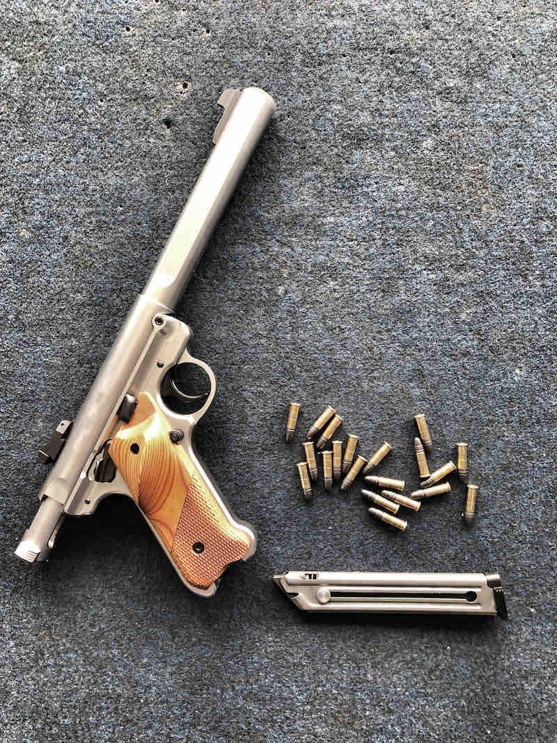 Pistol on the table or Ruger Mark IV | ruger mark iv