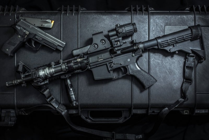assult rifle AR15 and pistol gun   best legal home defense rifles ny