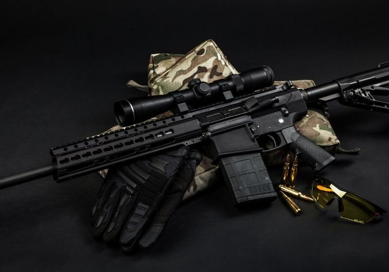 Modern automatic carbine with a telescopic sight 9mm carbines SS