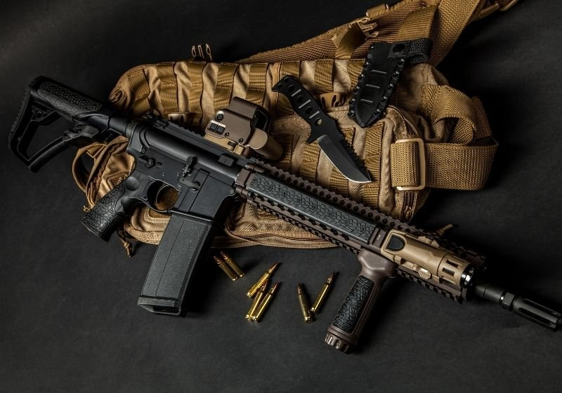 Modern automatic carbine with collimator 9mm carbines SS