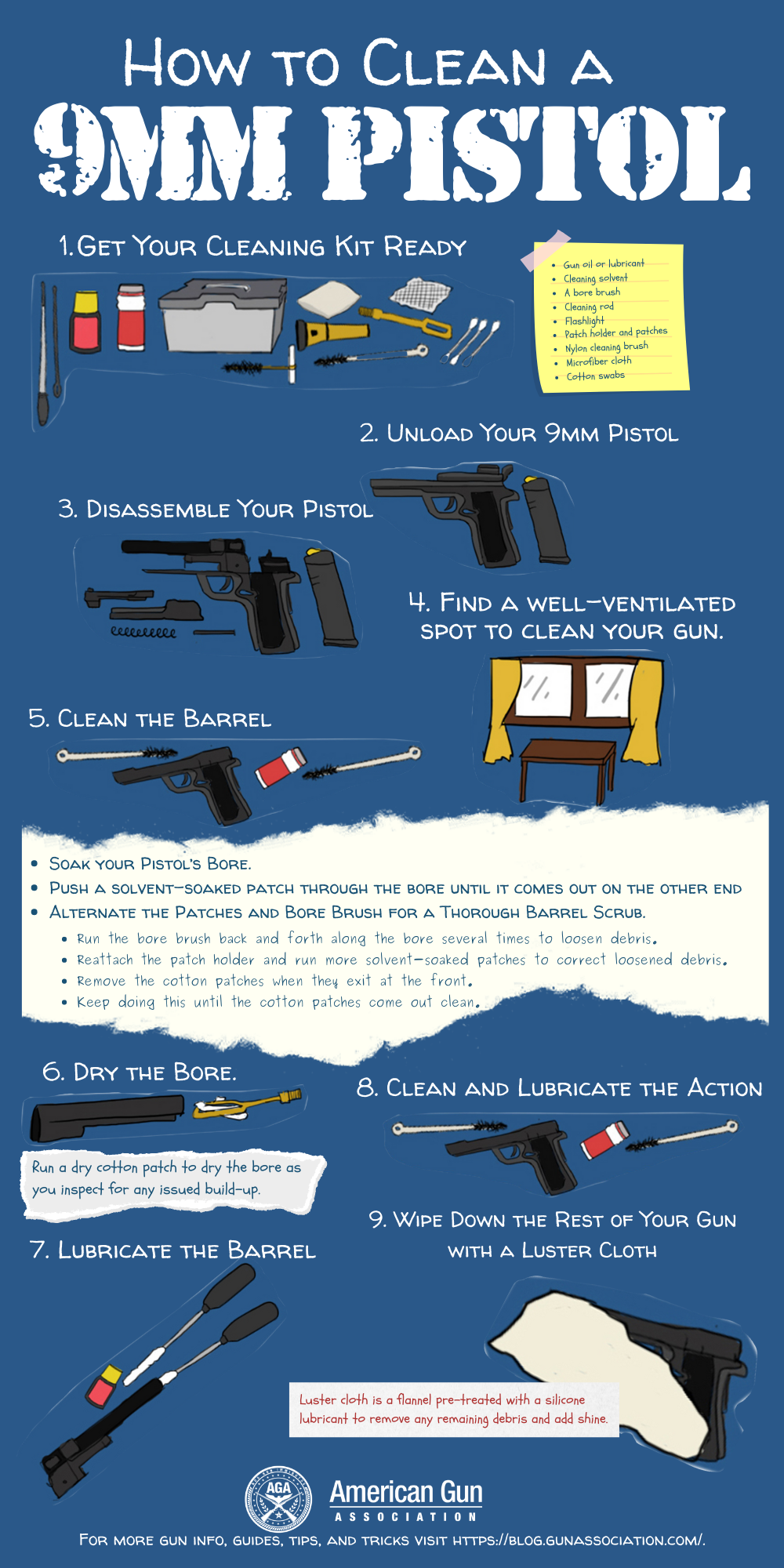how to clean a 9mm pistol (3)